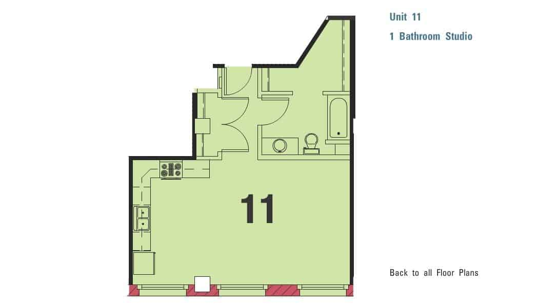 Loft Studio for $880/month!