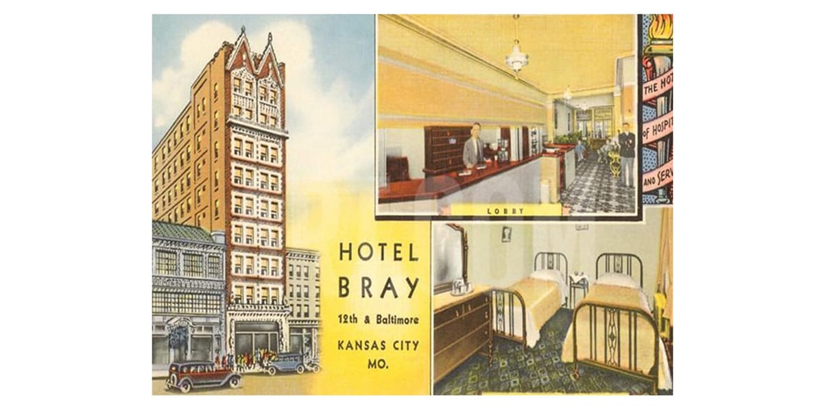 Historic Hotel Bray in Downtown Kansas City to be Redeveloped as Apartments